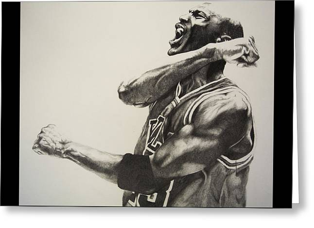 Michael Jordan Greeting Card