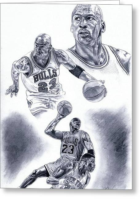 Michael Jordan Greeting Card by Jonathan Tooley