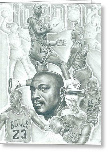 Michael Jordan Greeting Card by Kobe Carter