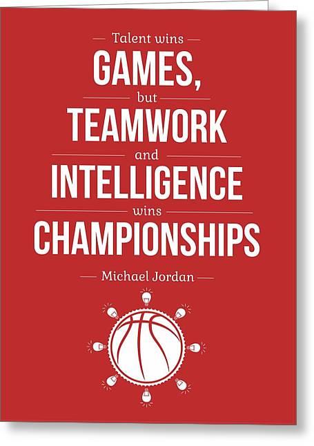 Michael Jordan Quotes Poster Greeting Card