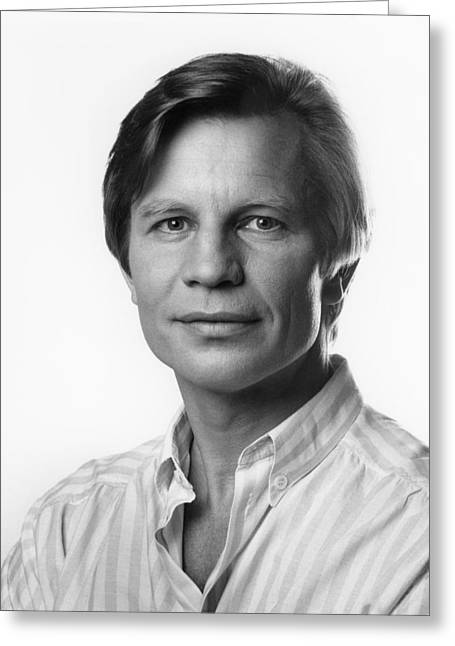 Greeting Card featuring the photograph Michael York by Mark Greenberg