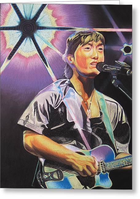 Micheal Kang Greeting Card by Joshua Morton