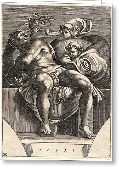 Michelangelo Buonarroti Italian, 1475 - 1564. The Prophet Greeting Card by Litz Collection