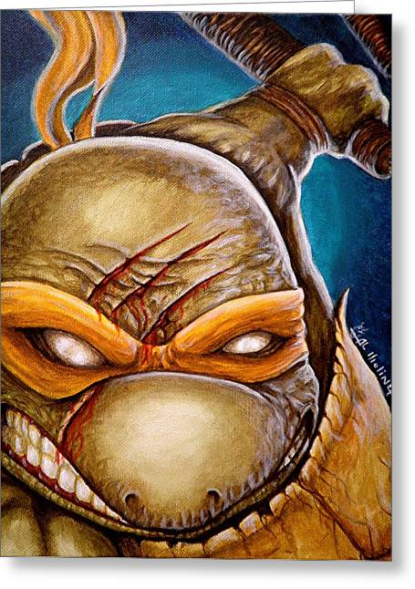 Michelangelo Unleashed Greeting Card by Al  Molina