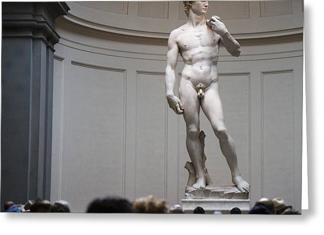 Greeting Card featuring the photograph Michelangelo's David by Nathan Rupert