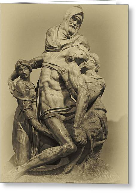 Michelangelo's Florence Pieta Greeting Card by Melany Sarafis