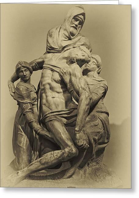 Michelangelo's Florence Pieta Greeting Card