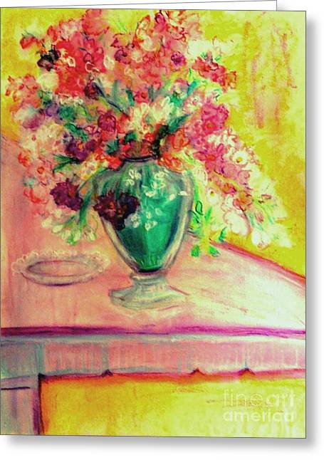 Michelangelo's Vase Greeting Card by Helena Bebirian