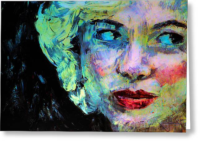 Greeting Card featuring the digital art Michelle As Marilyn by Jim Vance