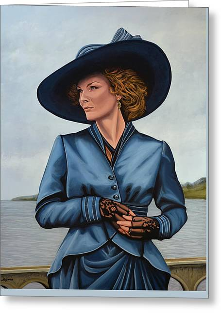 Michelle Pfeiffer Greeting Card by Paul Meijering