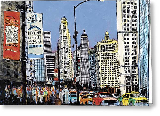 Michigan Ave Chicago  Greeting Card