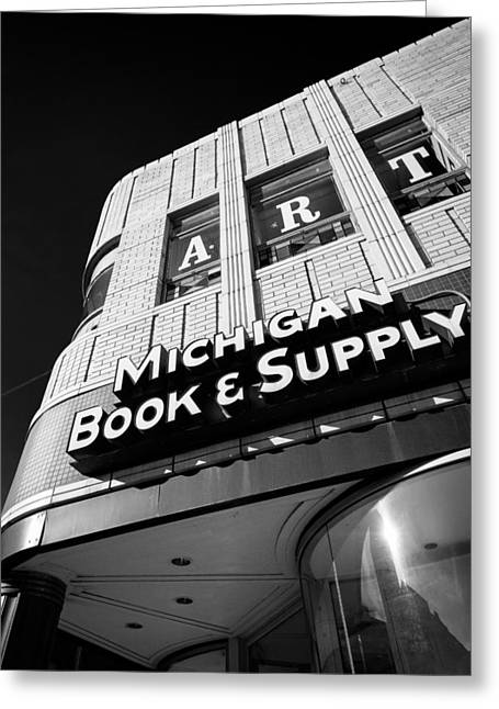 Greeting Card featuring the photograph Michigan Book And Supply by James Howe