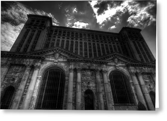 Michigan Central Station Highrise Greeting Card