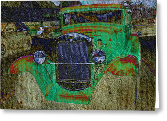 Michigan Coupe Greeting Card by MJ Olsen
