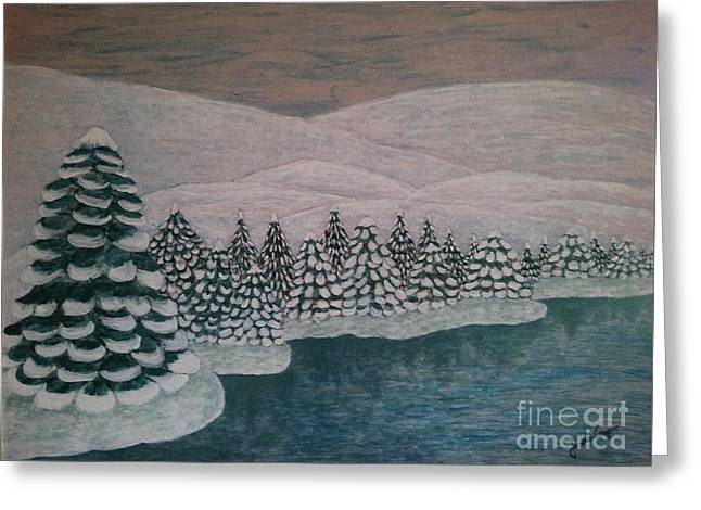 Michigan Winter Greeting Card by Jasna Gopic