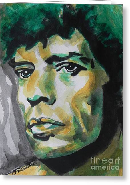 Mick Jagger Greeting Card by Chrisann Ellis