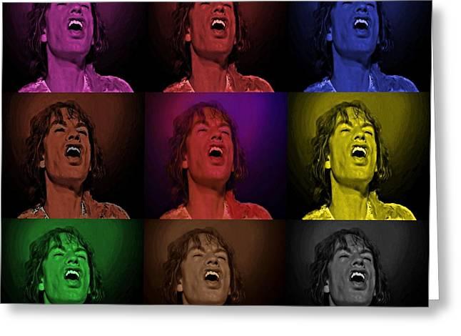Mick Jagger Pop Art Print Greeting Card