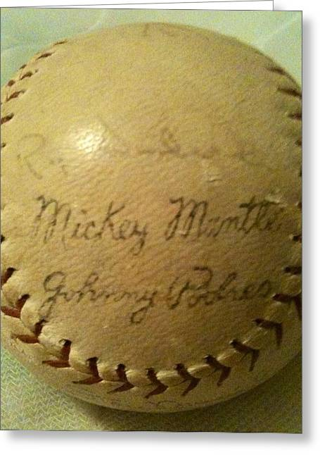 Mickey Mantle Baseball Autograph Greeting Card