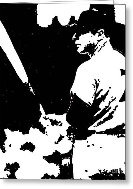 Mickey Mantle Drawing Greeting Card