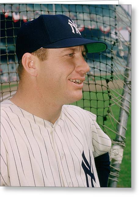 Mickey Mantle Smile Greeting Card by Retro Images Archive