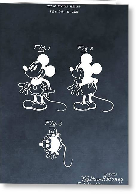 Mickey Mouse Greeting Card by Dan Sproul