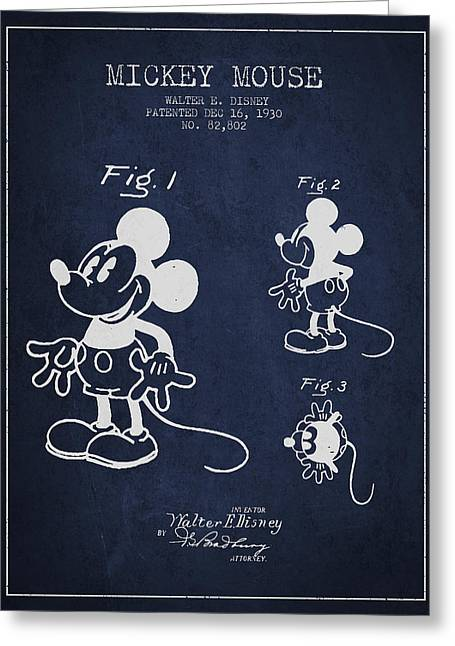 Mickey Mouse Patent Drawing From 1930 Greeting Card