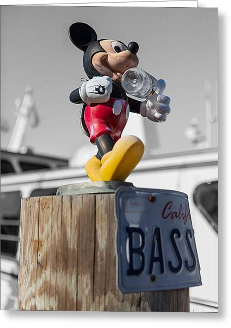 Mickey On A Post Greeting Card by Scott Campbell