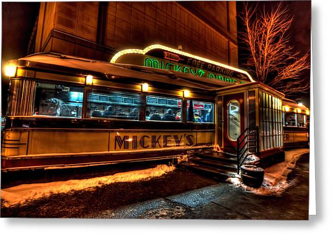 Mickey's Diner St Paul Greeting Card by Amanda Stadther