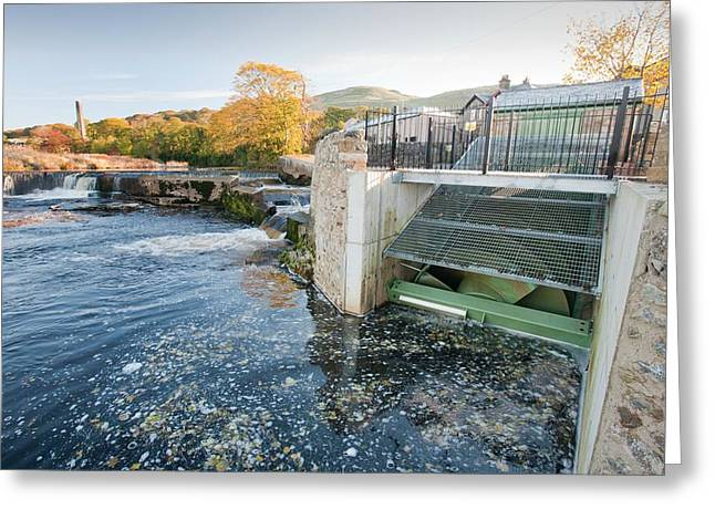 Micro Hydroelectric Scheme Greeting Card