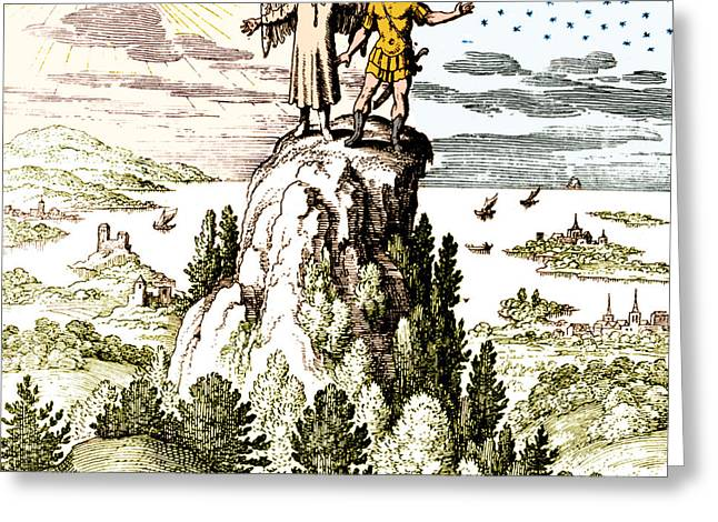 Microcosm Macrocosm 17th Century Greeting Card by Nlm