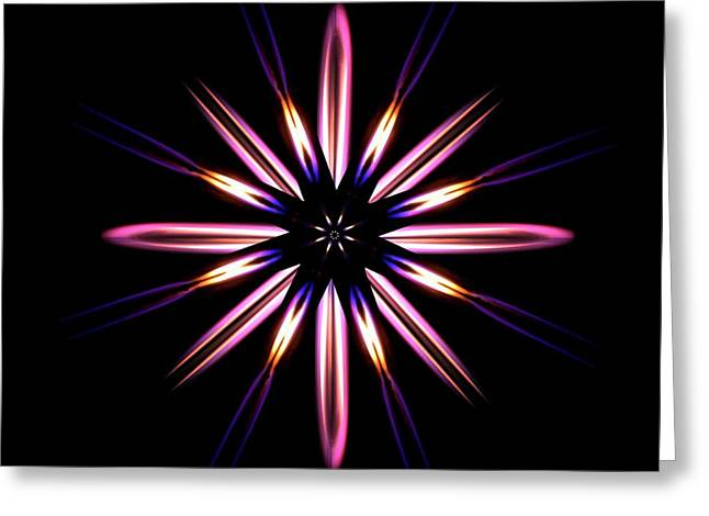 Microgravity Flames Artwork Greeting Card
