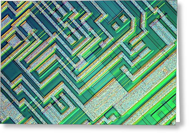 Microprocessor Chip Greeting Card