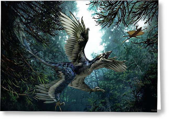 Microraptor Greeting Card
