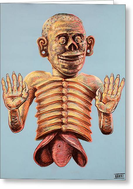 Mictlantecuhtli The Aztec God Of The Dead Greeting Card