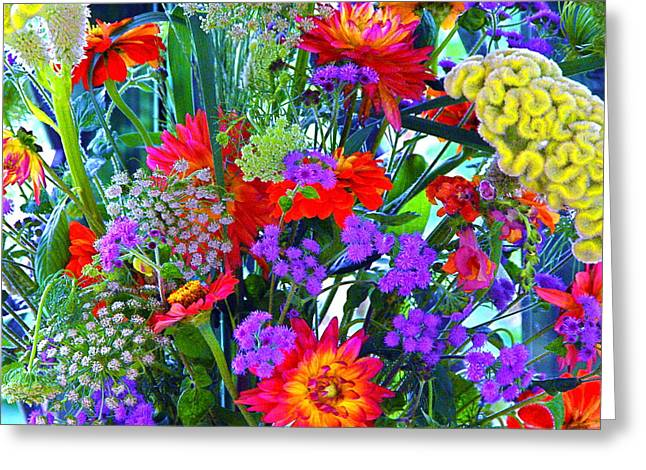 Mid August Bouquet Greeting Card