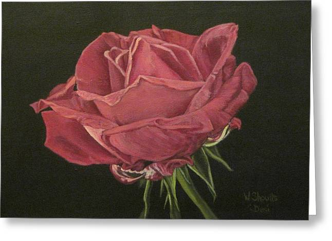 Greeting Card featuring the painting Mid Bloom by Wendy Shoults