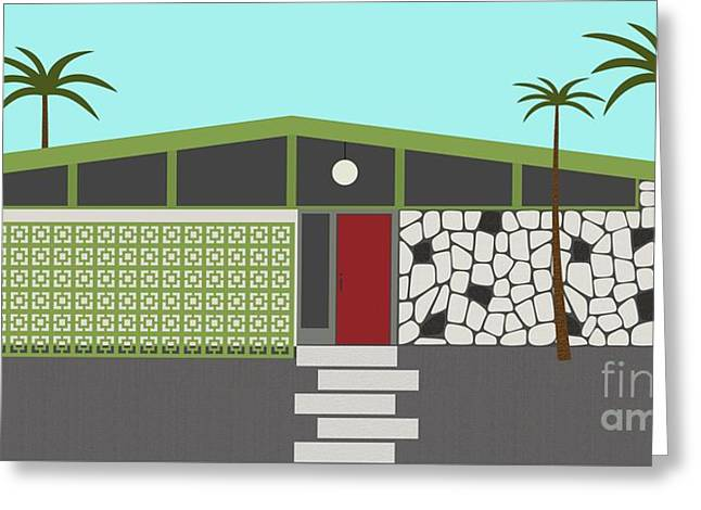 Mid Century Modern House 4 Greeting Card