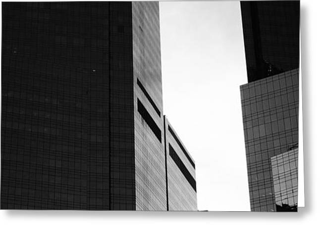 Mid Section View Of Buildings, Time Greeting Card by Panoramic Images
