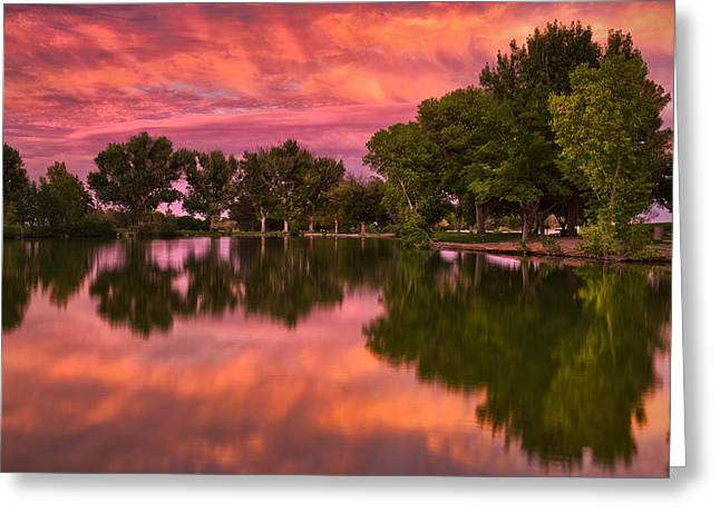 Mid Summers Sunset Greeting Card