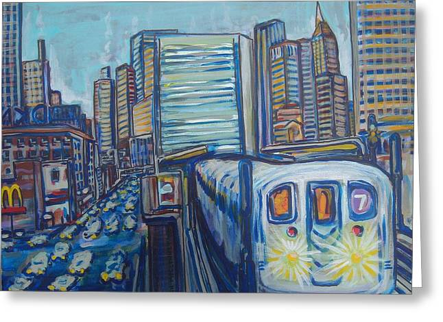 Mid-town Subway Tunnel Greeting Card by Mitchell McClenney