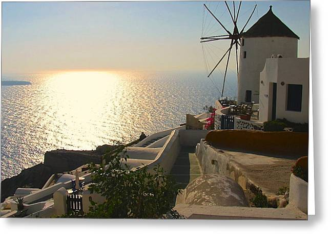 Midday On Santorini Greeting Card