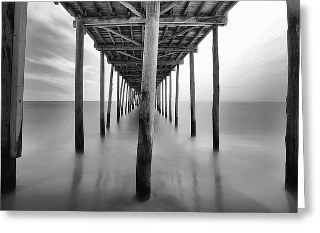 Midday Under The Pier Greeting Card
