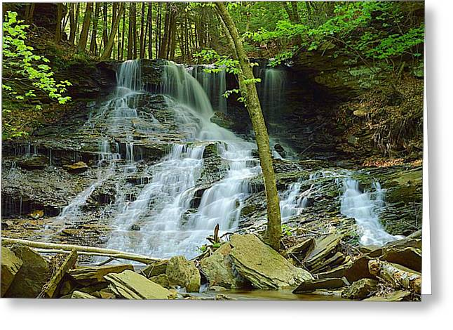 Middle Branch Falls Lower Tier #1 Greeting Card