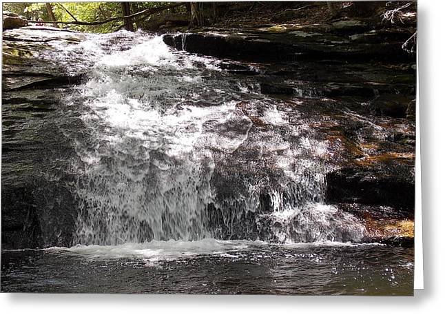 Middle Chapel Brook Falls Greeting Card