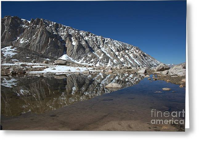 Middle Lake Reflections Greeting Card by Jane Axman