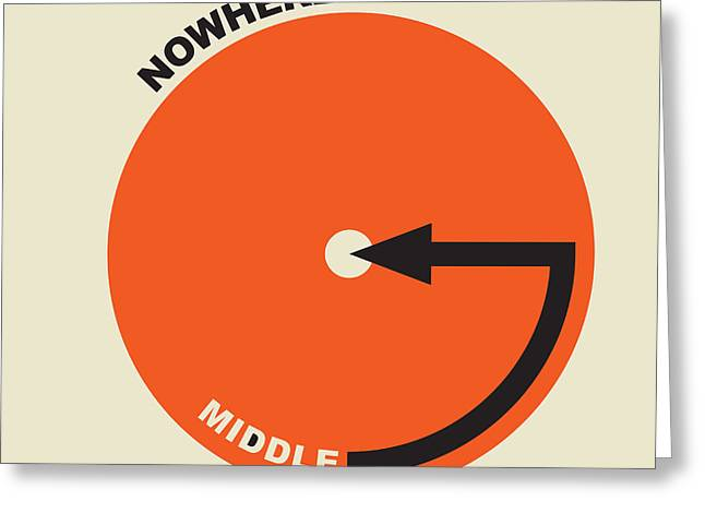 Middle Of Nowhere Map Greeting Card