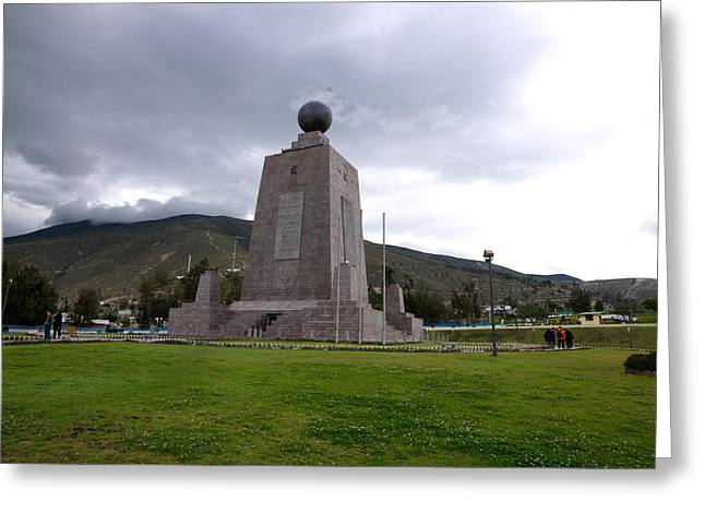 Middle Of The World Monument, Mitad Del Greeting Card