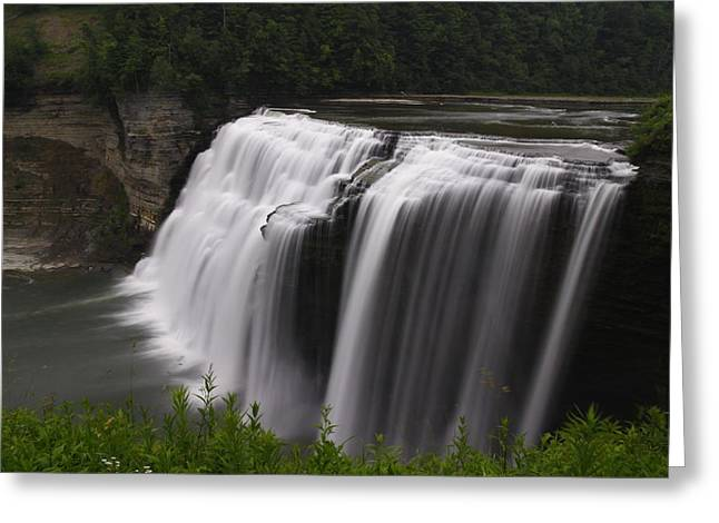 Middle Waterfalls Greeting Card by David Simons