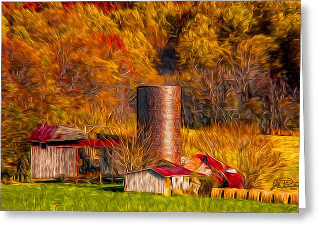 Middleburg Silo And Outbuildings Greeting Card