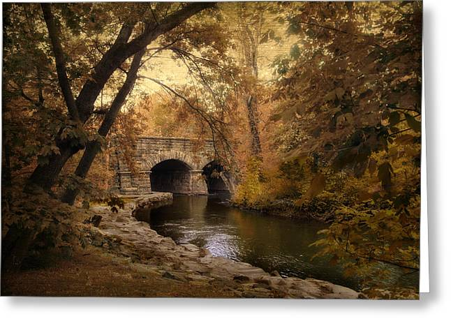Midland Bridge Greeting Card by Jessica Jenney